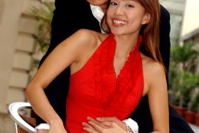 Sorry: Jamie Yeo (front) said this is the first time that she's admitting she was the one who caused her and ex-hubby Glenn Ong (behind) to split.