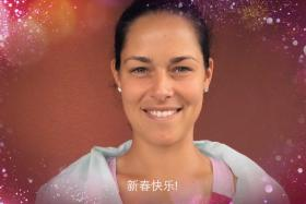 Ana Ivanovic is one of eight women's tennis stars who sent their Chinese New Year wishes to Singaporeans via a video from the WTA.