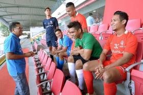 VISION: FAS president Zainudin Nordin (above, far left) believes the S.League, the LionsXII (above) and a Singapore team in the ASL can coexist.