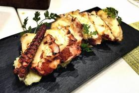 The grilled Octopus ($22) is simple. it is served with capers and potatoes, and paprika adds a dash of heat.