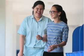 Ong Hui Xin is blind but has done well enough to qualify for university.