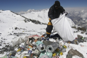 Too much thrash and human waste have been left on Mount Everest.