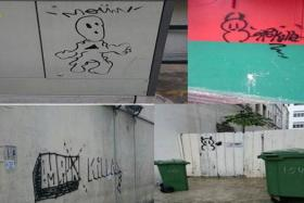 Some of the vandalised public property.