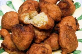 A boy choked to death on a banana fritter.