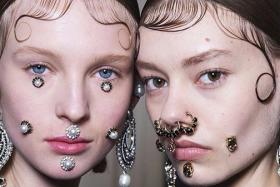 Styled baby hair and face jewellery are some of the trends that popped up at the recent fashion week events.