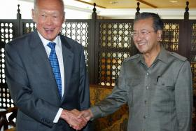 """Former Malaysian Prime Minister Mahathir Mohamad said that he was """"saddened"""" by the passing of Mr Lee Kuan Yew."""