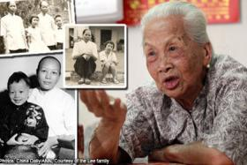 Madam Ouyang Huan Yan, now 98, worked for the Lees from the 1940s until 1986, when she decided to return home to China.