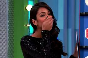 Oops, Manuela Arbeláez's blooper meant the contestant won a brand new Hyundai Sonata.