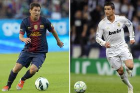 Sir Alex Ferguson says Lionel Messi and Cristiano Ronaldo are miles ahead of the rest