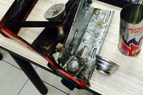 A portable gas cooker used for a hotpot meal at a Beach Road restaurant exploded, leaving five women injured.