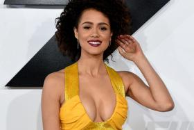 Actress Nathalie Emmanuel attends the premiere of Furious 7 in Hollywood, California on April 1, 2015.