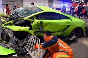 A Lamborghini owner in China had a very bad weekend. The Lamborghini pictured was involved in a illegal street race in China. It collided the side wall of a tunnel after colliding with a Ferrari taht it was racing with.