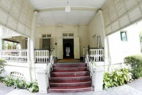 "FOND MEMORIES: Dr Lee Wei Ling said the veranda was where ""as very small children, our birthdays were celebrated with one cake, Mama and two siblings"". ""It was also where Cikgu Amin (Mohd Amin Sapawi) taught us Malay two to three times a week and where Ting lao shi (teacher in Mandrain) taught us Mandarin,"" she added."