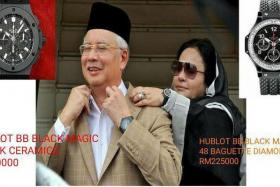 EXPENSIVE TASTE: Malaysian PM Najib Razak and his wife Rosmah Mansor are said to have a range of expensive watches.