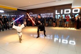 Luke (yes, that is his real name) Quek (above) was among the 421 Star Wars fans who were at Star Wars: The Force Awakens Panel Simulcast Fan Event, which began at 11pm on Thursday.