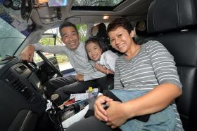 10TH CHALLENGE: Last year's winner, Mr Kwok Chee Wei, 49, and his wife, Madam Tan Li Jin, 41, and daughter, Kwok Fei, 9, are back this year for the 10th anniversary of the TNP SUVival Challenge.