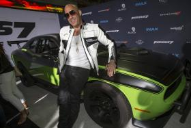 Vin Diesel poses at the premiere of Furious 7 in Hollywood, California on April 1, 2015.
