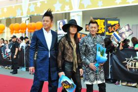 Members from Hong Kong band Grasshopper at the Star Awards show on Sunday.