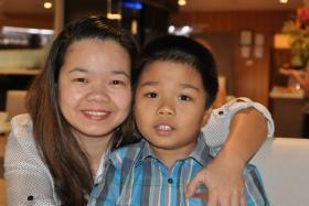 Maria Sevilla and her son Tyrone.