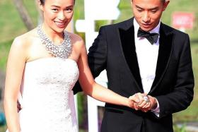 MIXED: Rebecca Lim, with Desmond Tan, walked away with two big awards - Best Actress and Top 10 Most Popular Female Artist, but Tan left empty handed.