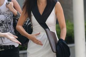 ACCUSED: Serina Wee, former finance manager of City Harvest Church, at the State Courts yesterday.