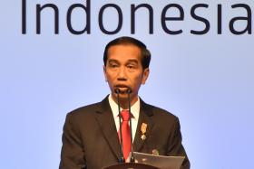Mr Joko Widodo delivering his opening address during the Asian African Conference in Jakarta last month