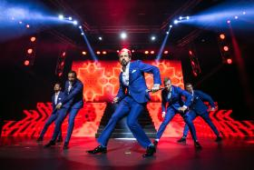 TOP HITS: (From left) Kevin Richardson, Howie Dorough, A. J. McLean, Brian Littrell and Nick Carter of 90s pop boyband Backstreet Boys sang various top hits at their show here in Singapore.