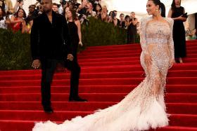 Kim Kardashian at the Met Gala in New York yesterday (May 4)