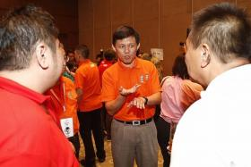 MAN WITH A VISION: Mr Chan Chun Sing at the May Day celebration held at The Star Performing Arts Centre.