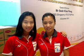 LITTLE TO LOSE: Yeo Jia Min (left) and Liang Xiaoyu (right) can gain from the exposure and experience of competing in next month's SEA Games.