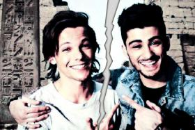 Zayn Malik and his former bandmate from One Direction, Louis Tomlinson