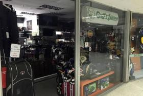 AFFECTED: Golf & Leisure was one of the shops hit by the blackout.