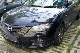 Actor Nat Ho was shocked to find his car damaged when he woke up for work this morning (May 11).
