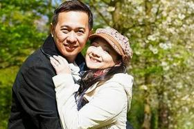 MARRIED: Mr Vincent Chee with his wife, former Hong Kong actress Wong Siu-Foon.