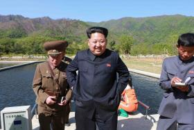 North Korea's leader Kim Jong-Un pictured in an undated photo released on May 11 by the country's official Korean Central News Agency.
