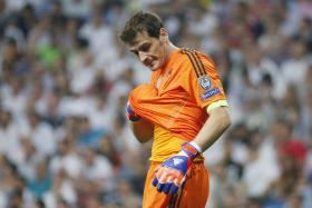 Iker Casillas had a poor thrown-in during the dying minutes of the game