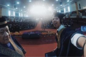 A student was suspended for taking selfie at graduation ceremony.