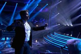 IN THE SPOTLIGHT: Lenny Wee conducting on an episode of American Idol.