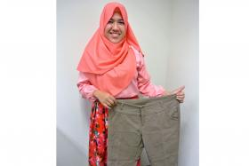 HAPPY: Teacher Siti Fatimah Muhammad, 37, a teacher, underwent bariatric surgery as a participant in the first Asian study embarked by Khoo Teck Puat Hospital's department of surgery and diabetes centre.