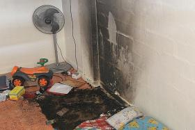 CHARRED: The fire happened on Tuesday morning in the Circuit Road flat.