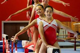 GOING FOR GLORY: (from front to back) Ashly Lau, Janessa Dai, Zeng Qiyan, Nadine Joy Nathan, Michelle Teo and Kelsie Yasmin Muir.