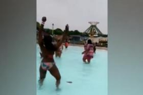 A YouTube screenshot of a private party held at Clementon Park and Splashworld in New Jersey, which angered the local community.