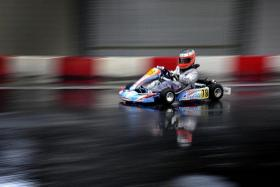 FAMILY SUPPORT: Mrs Marieza Undasan-Chapman is supportive of her son, Ryan Chapman, taking part in karting (above).