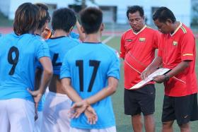 KYI TO VICTORY: Myanmar coach Kyi Lwin masterminding their SEA Games campaign.