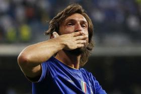 THE OLD MAN OF TURIN: Andrea Pirlo (above) is still the driving force of Juventus' midfield engine room.