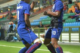 Cambodian players celebrating