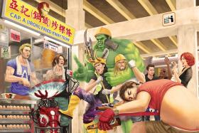 Tan Kwang Yang's imagines what Marvel's Avengers would do if they worked in Singapore.
