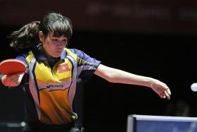 TIP TO KEEPING CALM: Vietnam's Nguyen Thi Nga (above) says she just told herself not to care about the score when she got nervous on her way to beating Singapore's Isabelle Li.