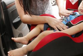 FOR SAFETY: Since Jan 1, 2012, anyone under the height of 1.35m, regardless of age, must be secured in child restraints, booster seats (above) or adjustable seat belts when travelling in a vehicle.