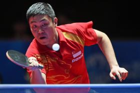Gao Ning in action against Richard Gonzalez in the final on Thursday